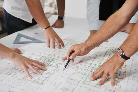 designers working on home automation system design