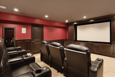 Custom Smart Home Theater System in Luxury Home