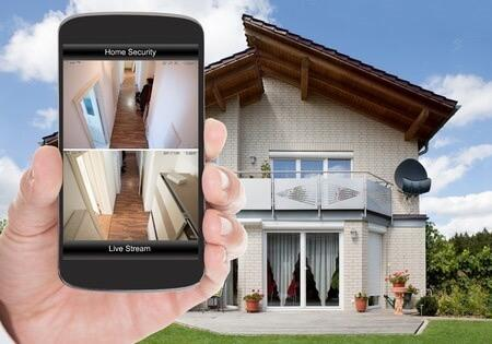 smart home security and surveillance systems live stream on smart phone