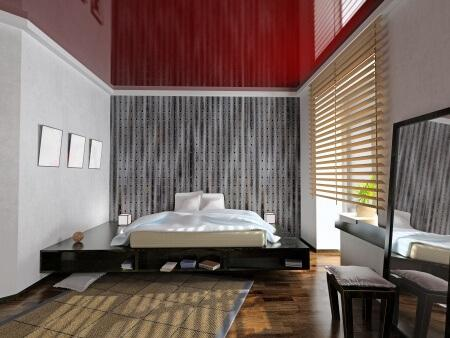 Smart Home Window Shades in a Bedroom