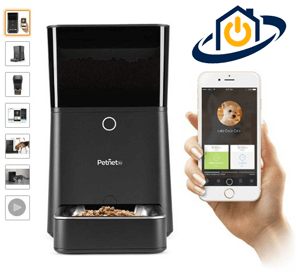 Automatic Feeder for pets controled with an iphone pet automation