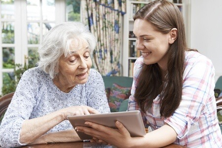Seniors and Babyboomers using technology to assist in care and age in place