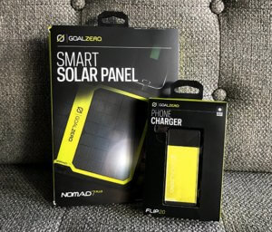 Smart Solar Panel on the couch