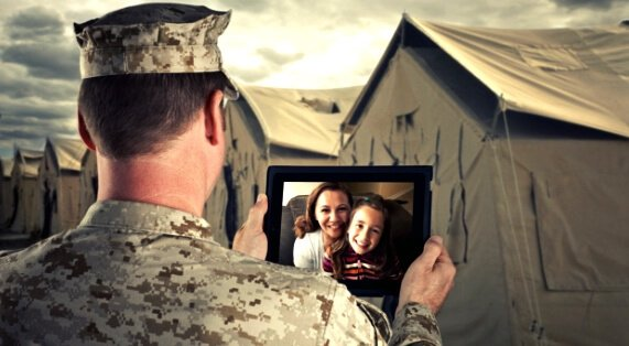 checking family through video